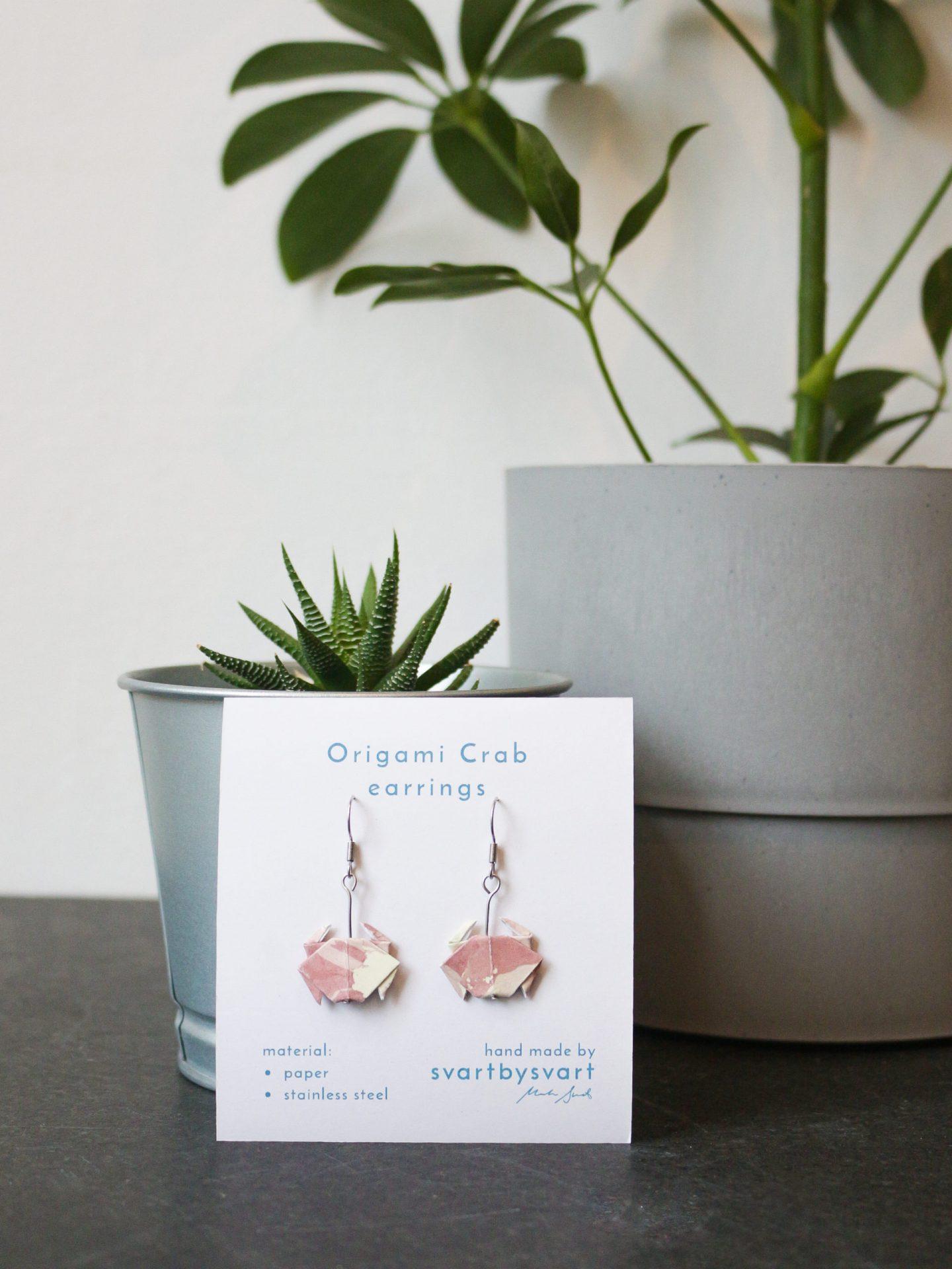 ORIGAMI CRAB Earrings