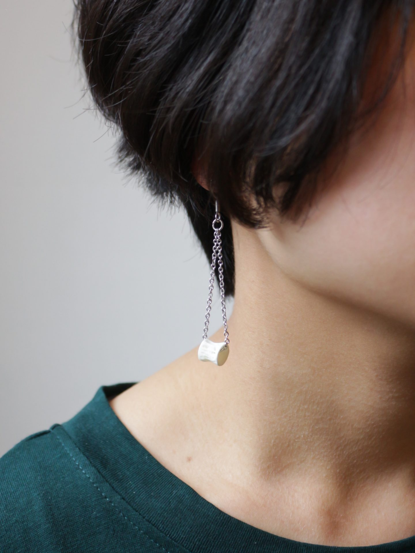 Fish Bone Vertebrae Earrings