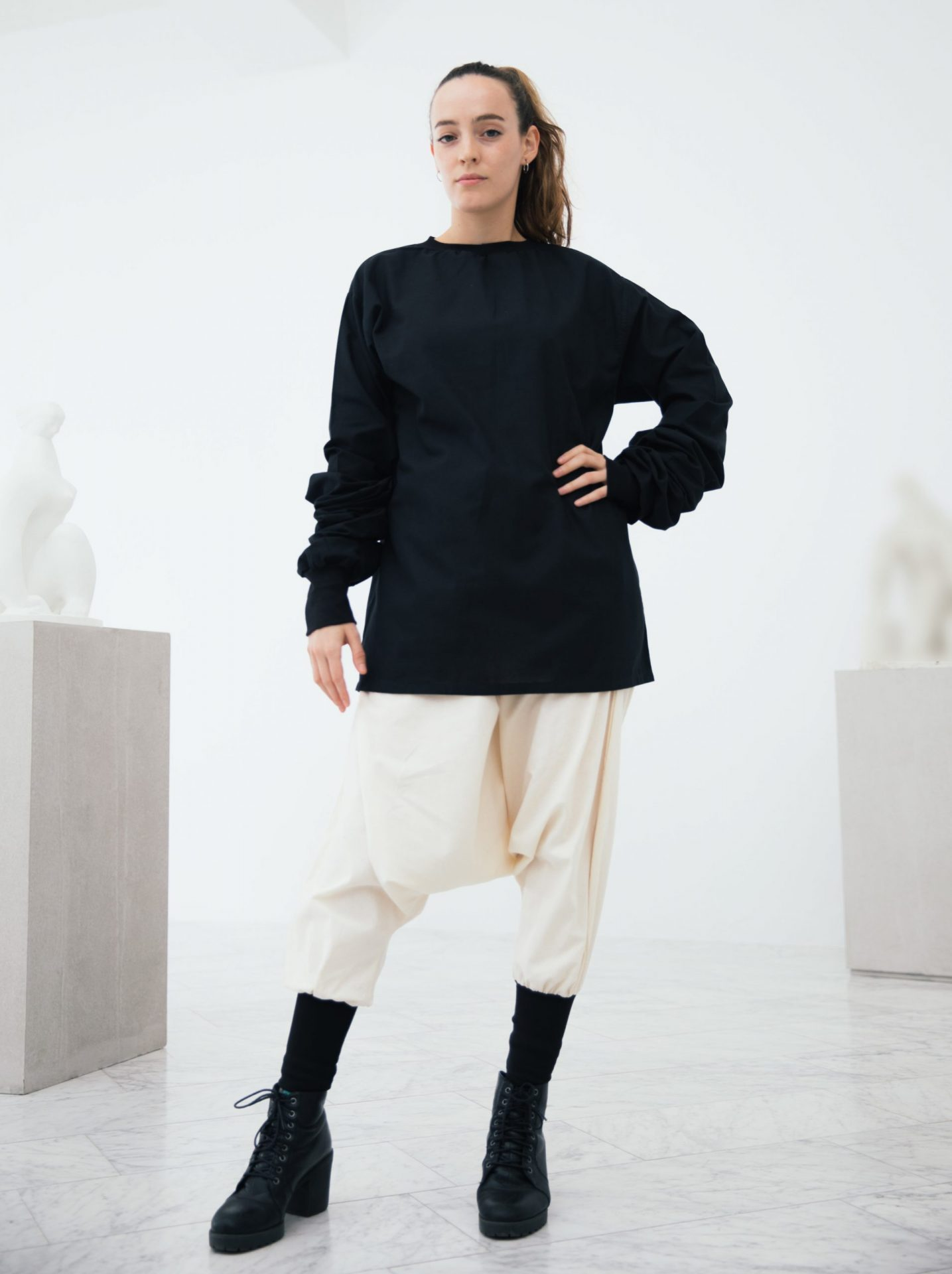 Unisex fashion tailored in Reykjavik - Svartbysvart originals Long Sleeve Top